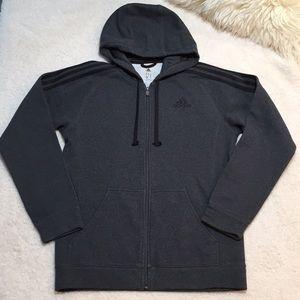 adidas Men's Zipper Front Sweatshirt Hoodie